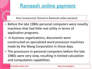 Rameesh online payment