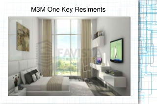 M3M One Key Resiments @ 09873245830 Haven With Nature-Friend