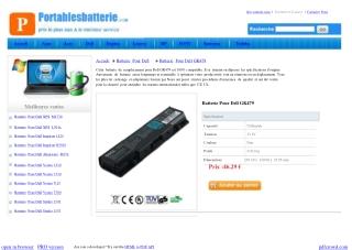 Batterie Pour Dell GK479