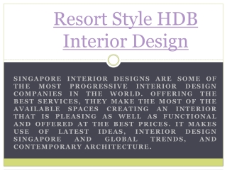 Resort Style Furniture Singapore