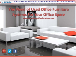 The Need of Used Office Furniture Systems for Your Office Sp