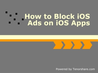 How to Block iOS Ads on iOS Apps