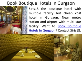 Hotel in Gurgaon  at Cheap and Affordable price