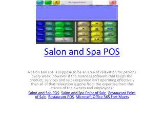 Salon and Spa POS