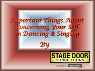 Important Things About Concerning in Dancing and Singing