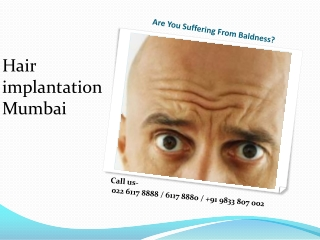 Remove Baldness from Hair Implantation Mumbai Clinic