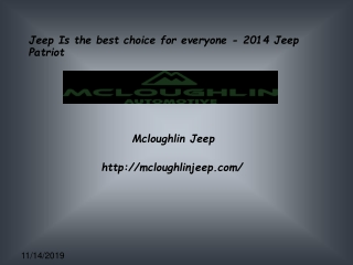 Jeep Is the best choice for everyone - 2014 Jeep PATRIOT