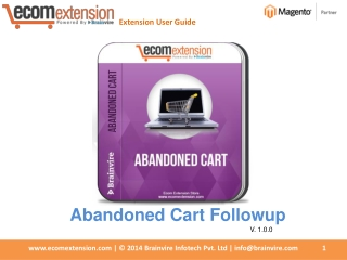 Increase Your Conversion Rate using Magento Abandoned Cart E