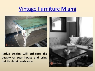 Vintage Furniture Fort Lauderdale