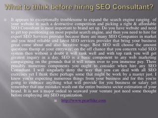 What to think before hiring SEO Consultant?