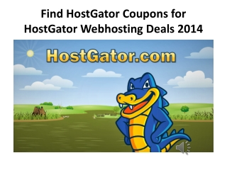 Find HostGator Coupons for HostGator Webhosting Deals
