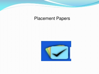 Placement Paper India