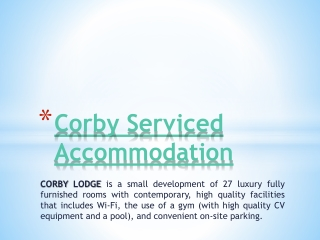 Northants Serviced Accommodation