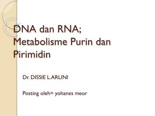 Materi Metabolisme purin dan pirimidin
