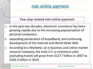 News for niet online paymet