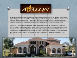 Tampa home builder
