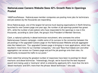 NationaLease Careers Website Sees 42% Growth Rate