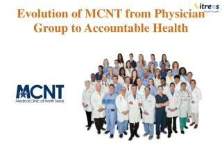 The Evolution of Physician Group from PCMH to ACO