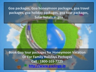 Goa packages, Goa honeymoon packages, goa travel packages, g