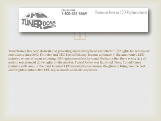 TunerDomes Premium Automotive Interior LEDs