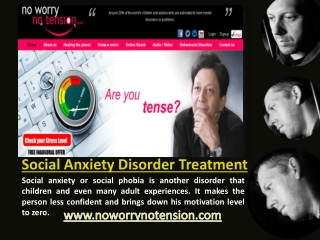 Social Anxiety Disorder Treatment