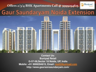 Buy Luxurious Apartments in Gaur Saundaryam