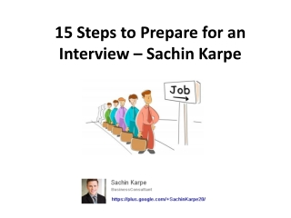 15 Steps to Prepare for an Interview from Sachin Karpe