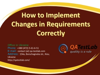 How to Implement Changes in Requirements Correctly