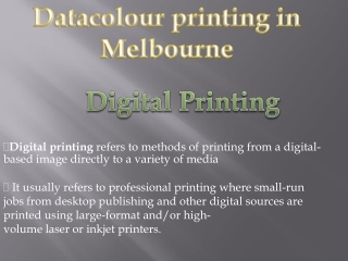 Digital Printing with Datacolour