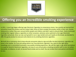 Logic electronic cigarettes