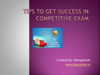 Tips to Get Success in Competitive Exam