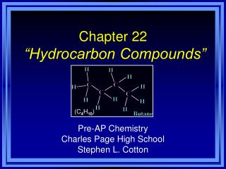 chapter 22   hydrocarbon compounds