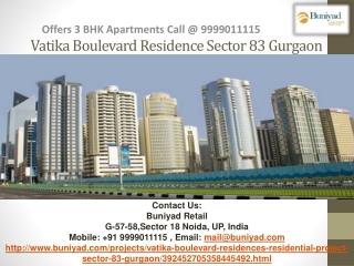 Vatika Boulevard Residence Dwarka Expressway Gurgaon