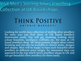Get Mens Silver Jewellery UK