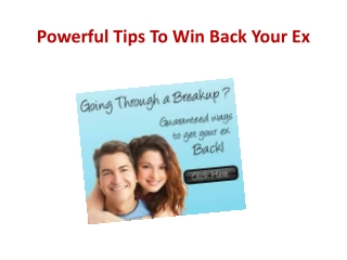 Powerful Tips To Win Back Your Ex