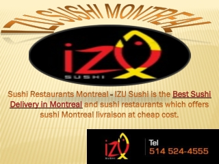 Best sushi delivery in montreal