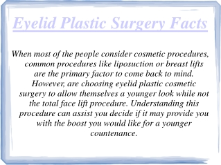 Best eyelid Plastic Surgeon Las Vegas