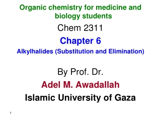 chapter 7: haloalkanes