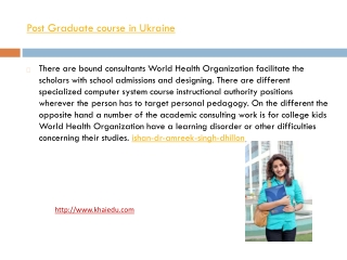Master Course in Ukraine