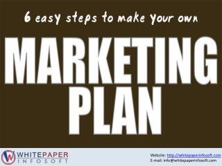 Best and Easy 6 Step to make your success marketing plan