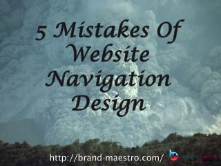 5 Mistakes of Website Navigation