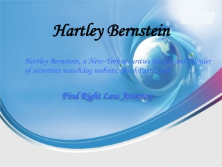 Hartley Bernstein - The Publisher Of Stock Patrol