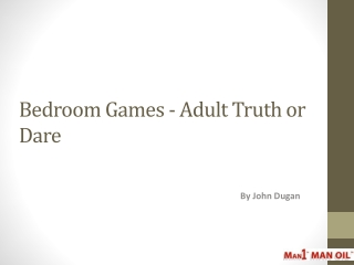 Bedroom Games - Adult Truth or Dare