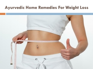 Weight Control - Herbal Home Remedies