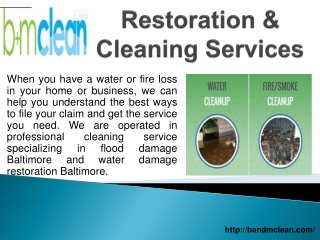 Water Restoration Baltimore