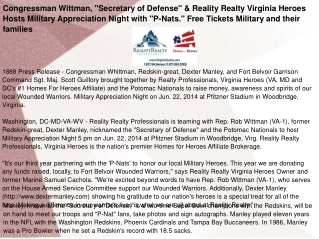 "Congressman Wittman, ""Secretary of Defense"""
