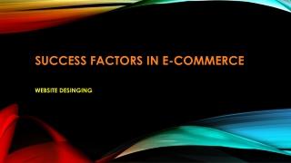 Success Factors in E-Commerce
