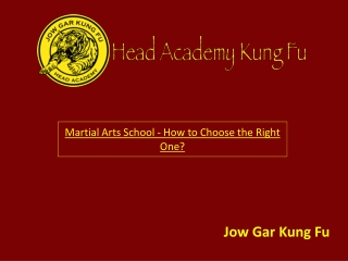 Martial Arts School - How to Choose the Right One