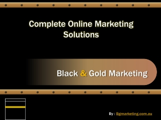 Online Marketing Company Melbourne