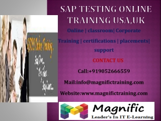 SAP TESTING ONLINE TRAINING USA,UK
